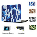 2015 Camuflaje PU estuche protector para Mac book/protectora caja del ordenador portátil shell para macbook air 11/13 pro 13 15 pro retina 13 15
