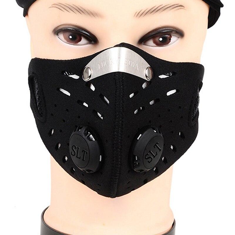Inteligente 1 Pieza De Máscara De Filtro De Aire De Carbón Activado, Máscara De Bicicleta De Los Piratas Del Caribe, Máscara De Bicicleta, Ciclo De La Mitad De La Cara, Máscaras A Prueba De Polvo