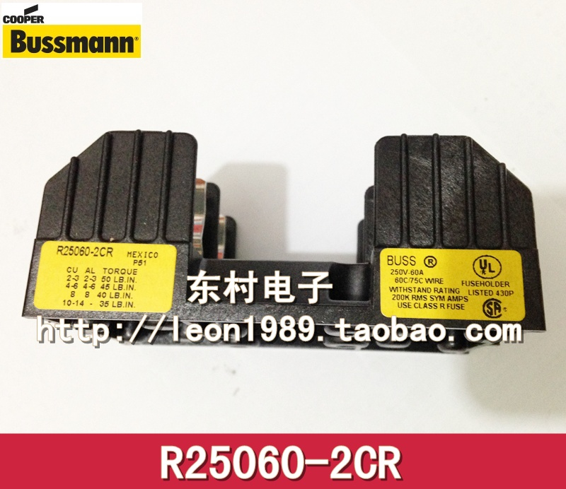 [SA]United States BUSSMANN fuse holder R25060-1CR R 25060-2CR R 25060-3CR--3PCS/LOT [sa]united states bussmann fuse holder j 60200 3cr j 60200 2cr 600v 200a fuse