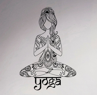 Yoga Wall Sticker Indian Lotus Pose Art Vinyl Decal Studio Decor Living Room Creative Art Murals