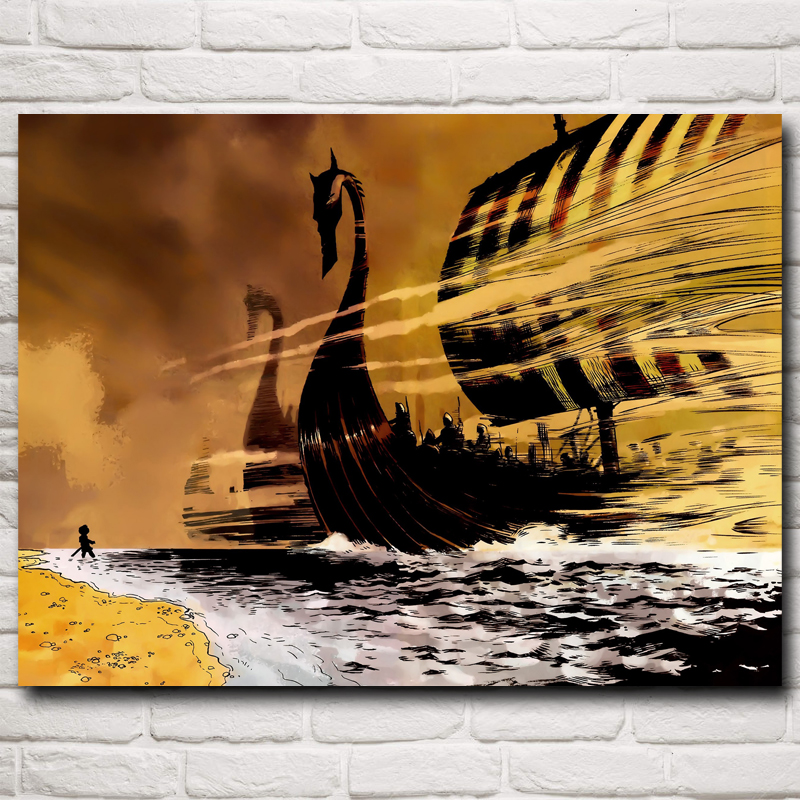 Fabric Wall Posters : Popular viking art prints buy cheap lots