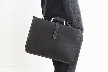 2019 новая стильная кожаная прямоугольная тонкая деловая сумка Офисные сумки для ноутбука