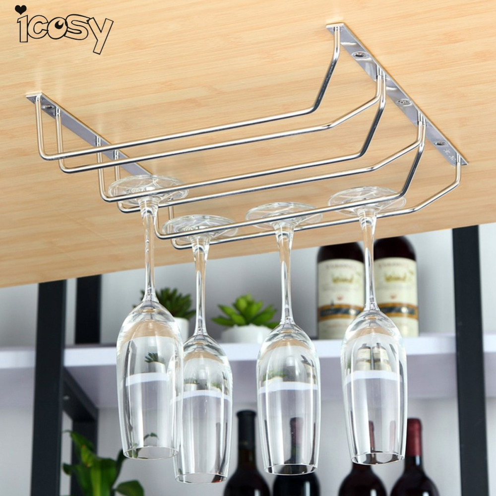 Wine Cup Wine Glass Holder Hanging Drinking Glasses Stemware Rack Under  Cabinet Storage Organizer Bar Hanger Stainless Shelf In Underwear From  Mother U0026 Kids ...