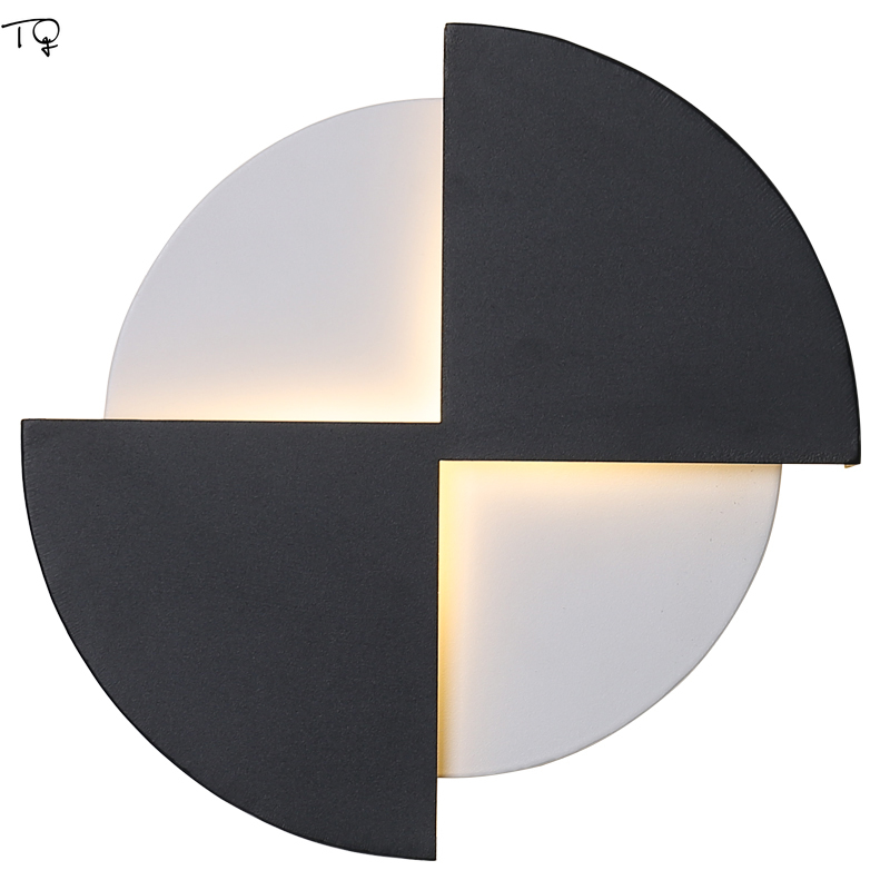 Modern Minimalist Black and White Grid Led Indoor Wall Lamps Design Geometry Concise Bed Light Porch Corridor Balcony Bedside|LED Indoor Wall Lamps| |  - title=