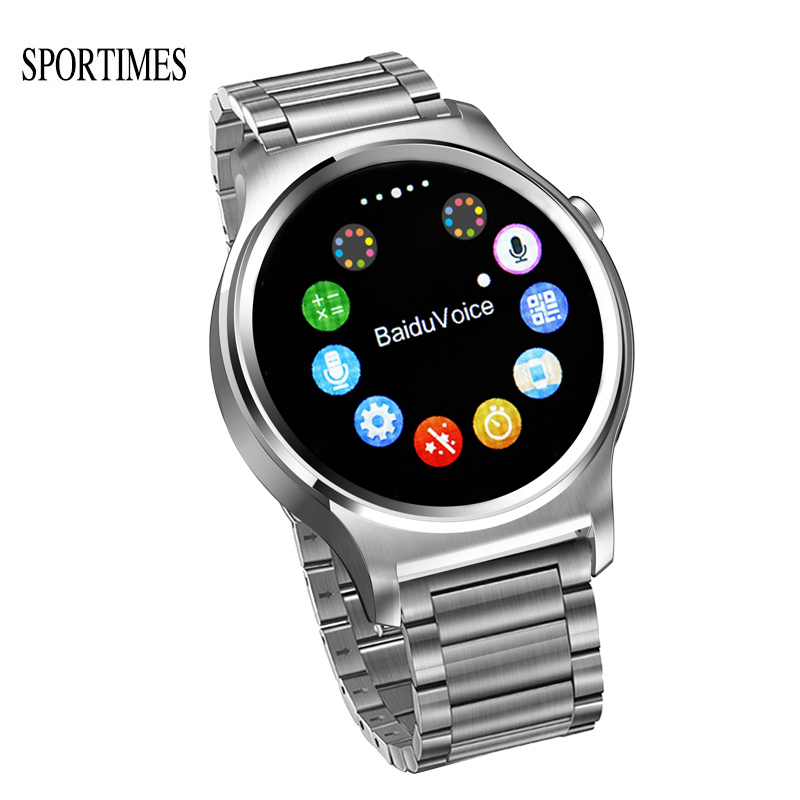 SPORTIMES GW01 Bluetooth 4.0 Smart Watch Wake-up Gesture Music Play Massage Push Call Reminder Pedometer Steel Strap будильник philips hf3520 01 wake up light