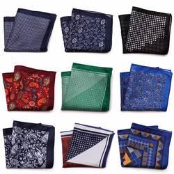 Tailor Smith новый дизайнер карман квадратный принтованное из микрофибры Пейсли Проверено мода платок в горошек Пейсли Цветочный Stye Ханки