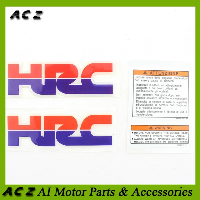 Acz Motorcycle Sticker Decorative Fuel Tank Decal Hrc Stickers Decals For Honda Cbr 600 900