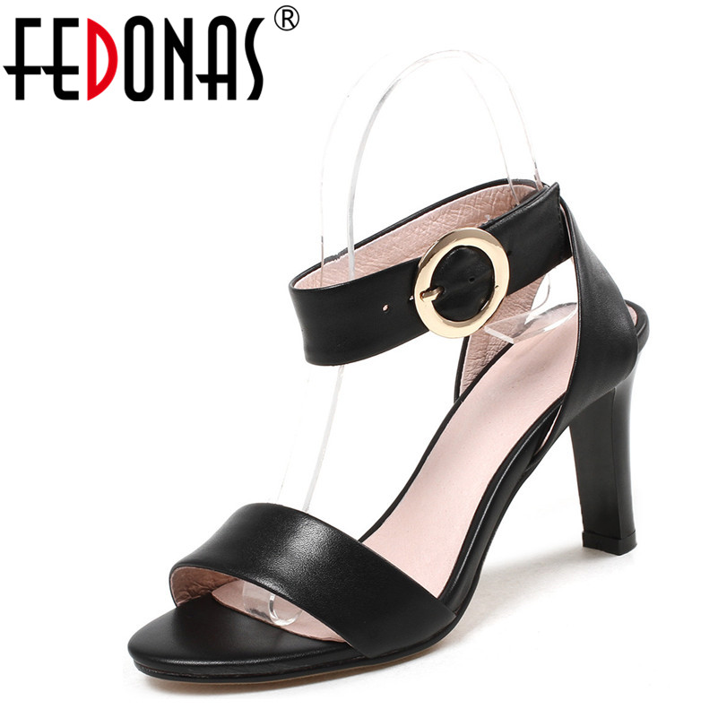 FEDONAS Summer Shoes Woman 2018 Women's Sandals Square High Heel Sandals Gladiator Ankle Strap Brand Wedding Party Shoes Woman fedonas new women gladiator sandals wedges high heel fashion ladies glitters wedding party shoes woman platforms summer sandals