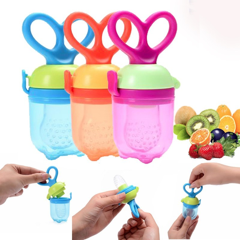 1Pcs Baby Pacifier Fresh font b Food b font Milk Nibbler Feeder Kids Nipple Feeding Safe