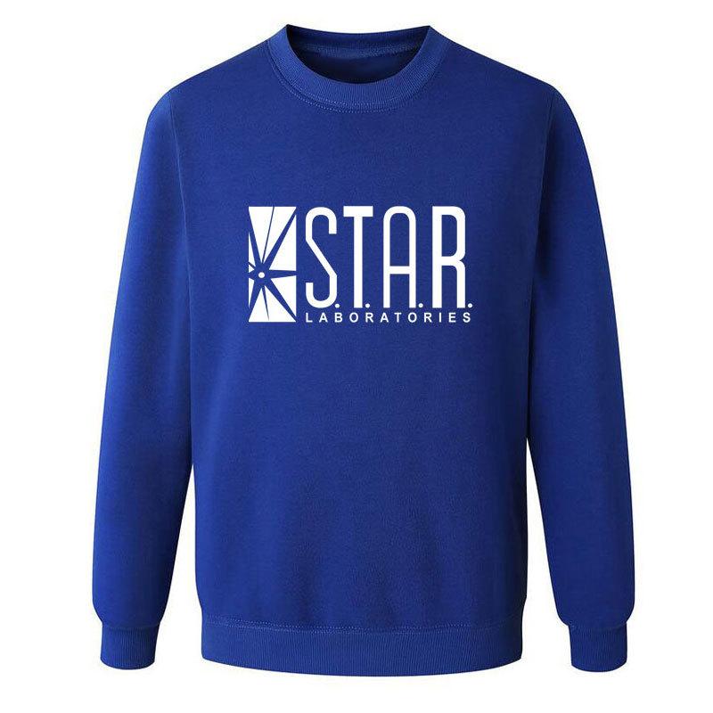 Eqmpowy Flash Barry Allen Star Lab Labs Black Color Mens Sweatshirt Men Novelty hoodies Pullover 2016 Male Clothes Arrow Friend