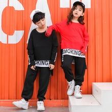 Niños pantalones casuales pantalones de Camisa larga sudadera Tops Hip Hop  Ropa para Niñas niño ropa de baile de Jazz de baile d. 5715eb3efd5