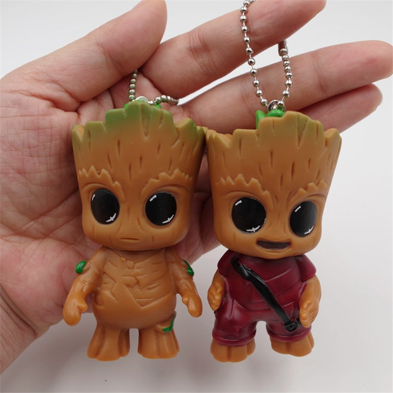 Anime Guardians of The Galaxy Doll Treant Grootted Action Figures Model Toy Best Christmas Gifts For Kids Home Decoration 7.5CM ...