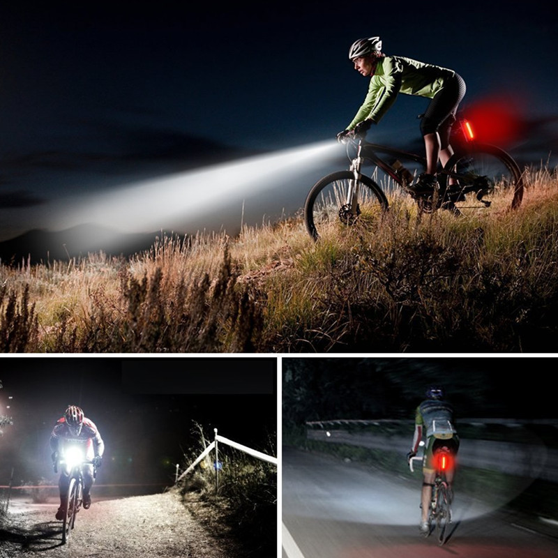 Outdoor Lamp Waterproof Bike Lights USB Charging Riding Lamps Portable Mountain Sport Bicycle Ride Warning Night Light 300lm