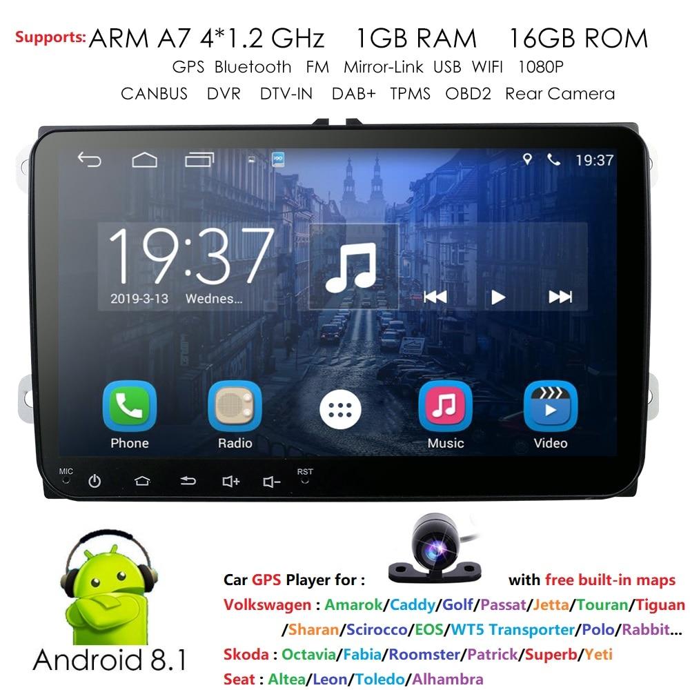 9 2 din Android 8 1 Car Radio Stereo GPS Navi for VW Passat B6 CC
