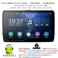 9 ''2 din Android 8,1 автомобильный радиоприемник стерео gps Navi для VW Passat B6 cc Polo Гольф 5 6 Touran J etta Tiguan Magotan сиденье Wi Fi Камера
