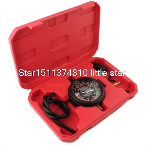 Car Tester Manifold Gauge Test Carburetor Valve Fuel Pump Pressure Vacuum