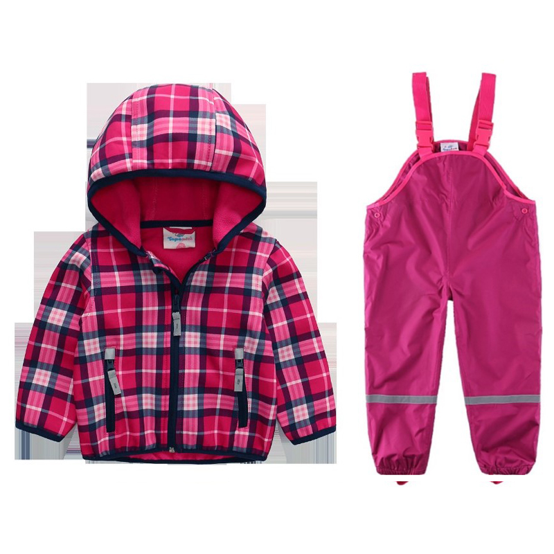 Children s outdoor fleece soft shell clothing waterproof breathable warm and comfortable jacket pants