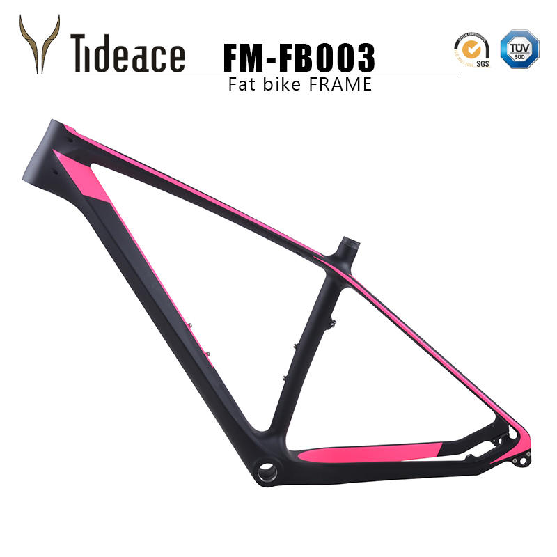 2017 Carbon fat Bike Frame 26er*16/18/20inch Carbon Fat Frame 26 carbon snow bike frame with thru axle shafter 2018 free ship carbon fat bike frame with fork 26er bsa carbon snow bike frameset carbon fat bike frame fork thru axle shafter
