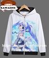 Hatsune Miku VOCALOID Snow Miku Japanese Anime Hoodie White Mens Sweatshirts Hoodies 3D Printed Sportwear Hoody Pullover XS-3XL