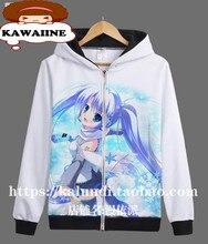 Hatsune Miku VOCALOID Miku Snow Japanischen Anime Hoodie Weiß Herren Sweatshirts 3D Gedruckt Sportwear Hoody Pullover XS-3XL
