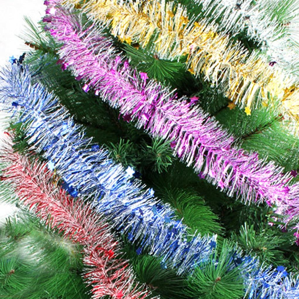 2 шт. красочные звезда ленты Рождество елка орнамент дома сада Праздничная вечеринка украшения