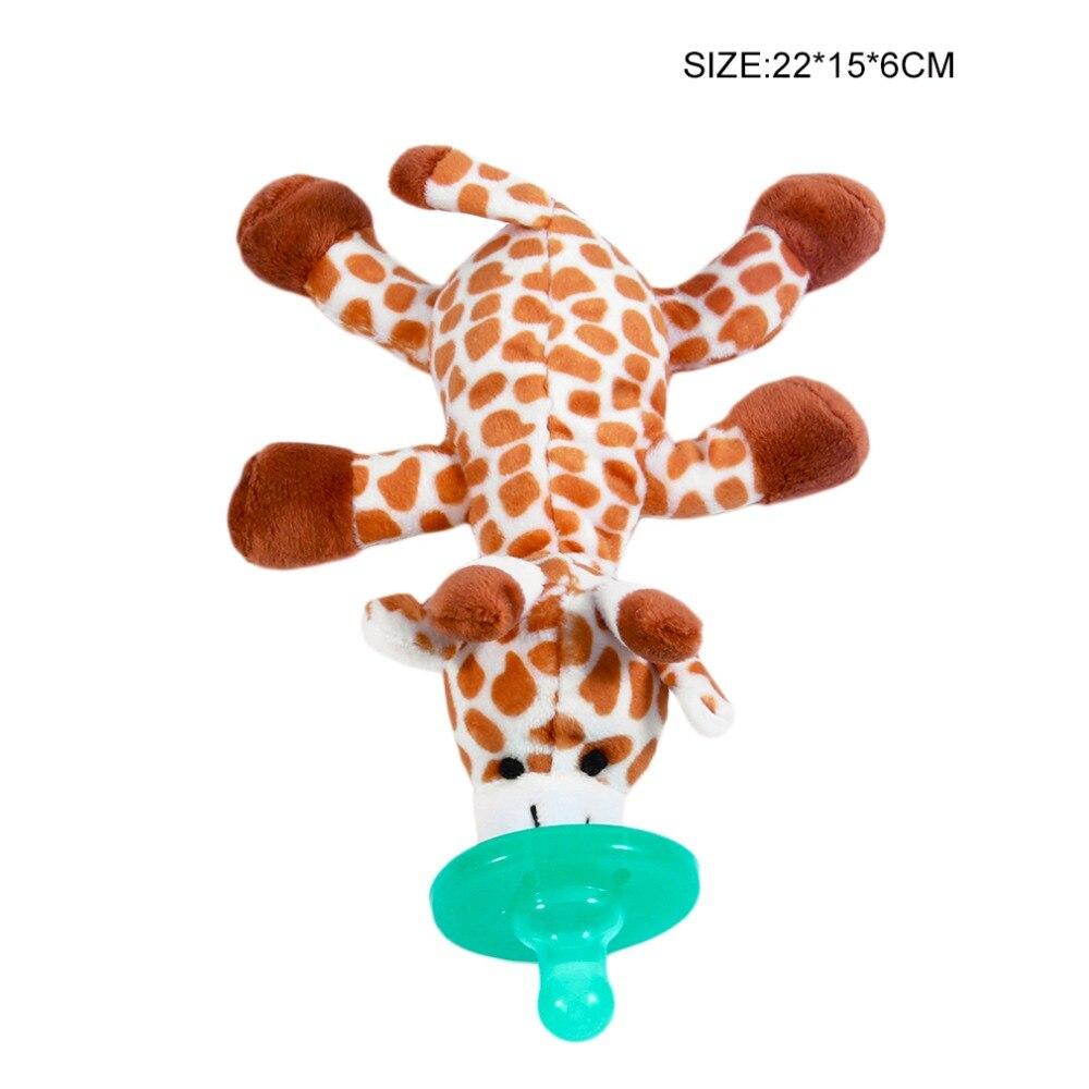 Милая Детская плюшевая игрушка, соска для новорожденных мальчиков и девочек, мультяшная Соска-пустышка Силиконовая пустышка, соска, аксессуары для кормления - Цвет: brown white