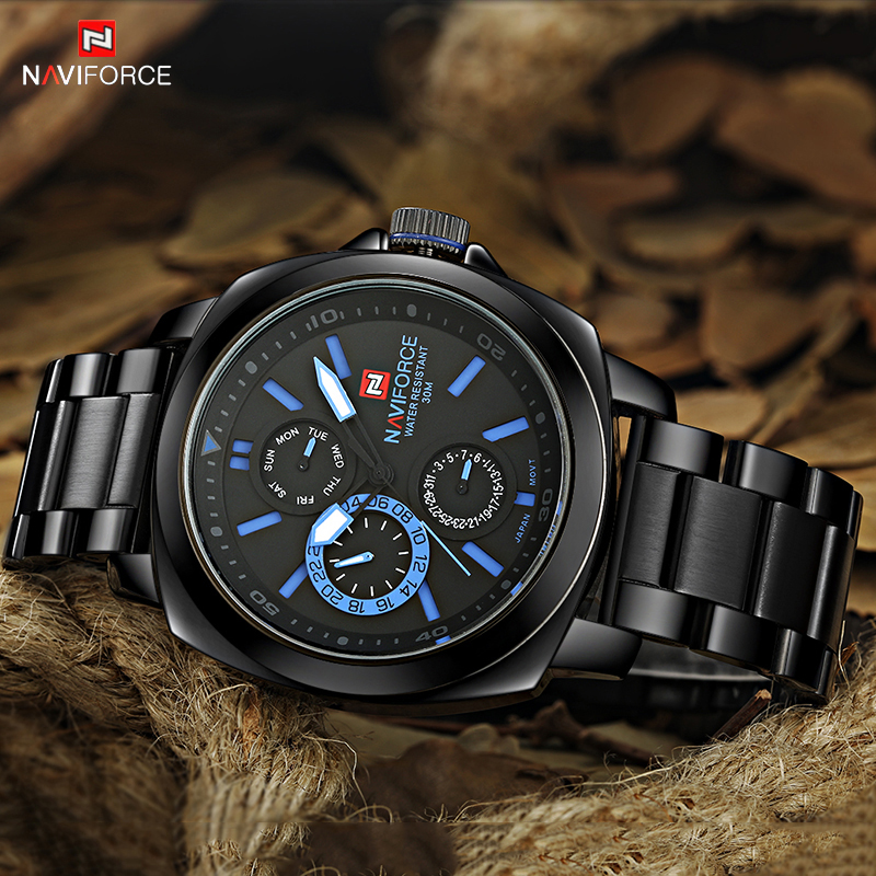 New Luxury Brand Men Casual Watch Sports Watches Men's Quartz Chronograph 24 Hours Clock Full Steel Wristwatch Relogio Masculino mcykcy brand stainless steel outdoor quartz wristwatch leather men watches new sports watch for men luxury famous casual clock
