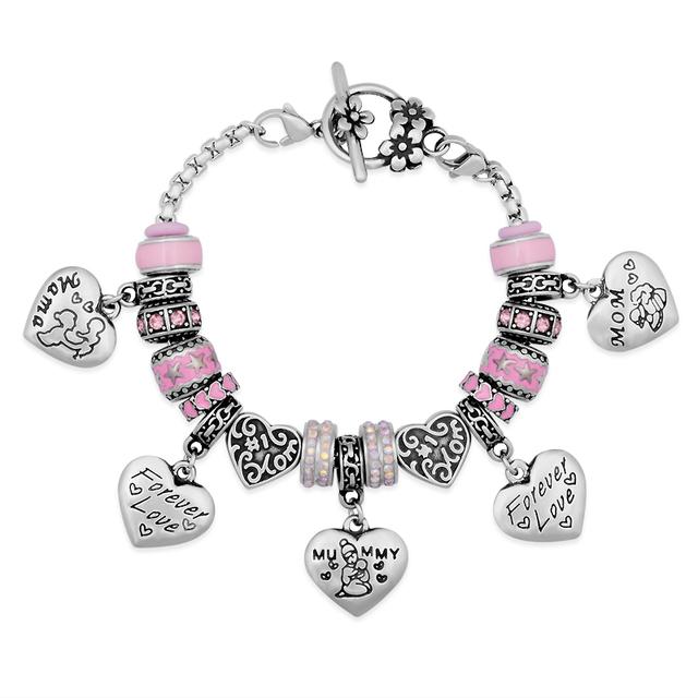 5 pçs/lote DHL Frete Grátis Nunca Desaparecer de Aço Inoxidável Pulseira Europeu Bead Para Mulheres Projeto Original Qualidade Superior