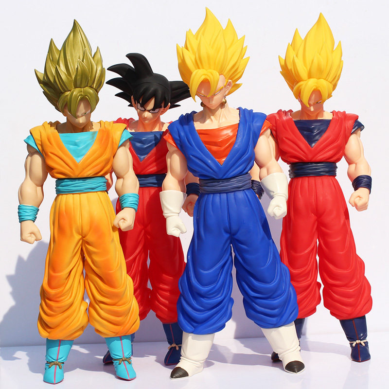 Retail 1pcs 36-43cm Dragon Ball Z Super Big Super Saiyan Vegeta Goku Son Gokon PVC Model Doll Action Figure Toy With Box dragon ball super toy son goku action figure anime super vegeta pop model doll pvc collection toys for children christmas gifts