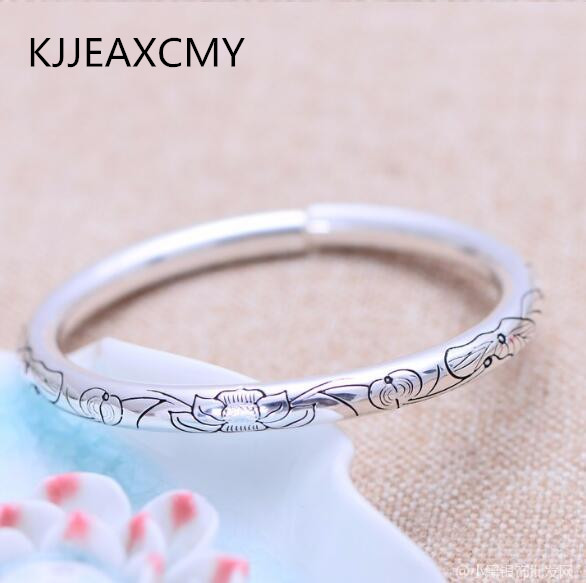 Lotus lotus female models silver jewelry 999.9 Bangles free shipping цена и фото