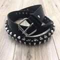 2017 Европейский Стиль Моды Черный Белый Панк Пуля Пояса Мотоцикла Пули Металла Заклепки Ремень Для Женщины Мужчины Vintage Ремни