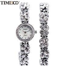 Time100 Mode Femmes Bracelet Warches Quartz Montre Argent Diamant Shell Cadran Dames Poignet Montres Pour Femmes relogio feminino