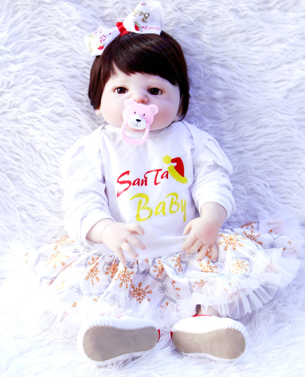 23 Full Silicone Body Reborn babies newborn lifelike collectible play hose toy princess toddler dolls kids birthday gifts23 Full Silicone Body Reborn babies newborn lifelike collectible play hose toy princess toddler dolls kids birthday gifts