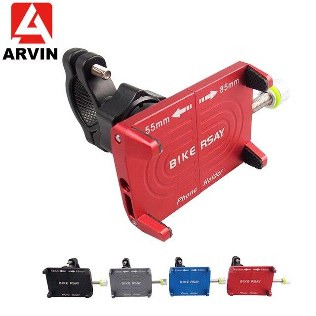Arvin motocicleta bicicleta titular do telefone para o iphone xr samsung s8 s9 telefone móvel moto guiador clipe suporte de montagem gps