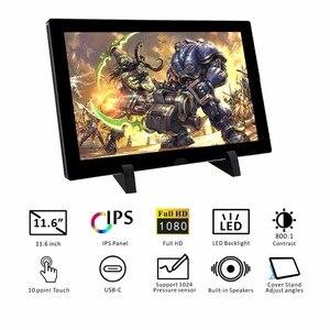 Image 2 - USB ポータブルモニター、 1080 p IPS タッチスクリーンディスプレイ usb C/HDMI/ビデオ、ラズベリーパイ 3 B + 2B PS3 PS4 WiiU XBOX 360 (T116D)