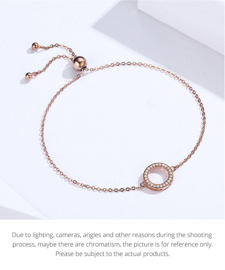 HTB10jtFaUY1gK0jSZFCq6AwqXXaG BAMOER Trendy 925 Sterling Silver Glittering Round Circle Chain Link Strand Bracelets for Women Sterling Silver Jewelry SCB030