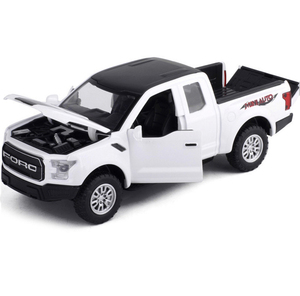 Image 3 - 1:32 F150 Pick up Truck Alloy Car Model Metal Diecasts Toy Vehicles Pull Back Flashing Sound For Kids Toy Free Shipping
