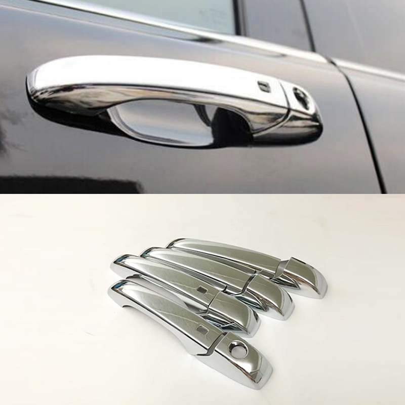 For Chrysler Town /& Country 2008-2015 Chrome 4 Doors Handles Covers W//Out Pskh