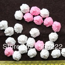 Ice-Cream Wholesale Fake And of Cabochon Resin Pink 10pcs Food D25 White 13mm/0.5inch