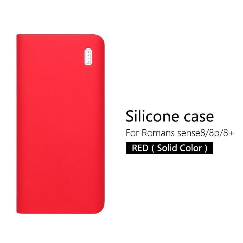 Силиконовый чехол для Romoss sense 8/8+ мобильный мощный мягкий силиконовый Противоскользящий чехол Romoss sense 8 чехол - Цвет: Red (no word)