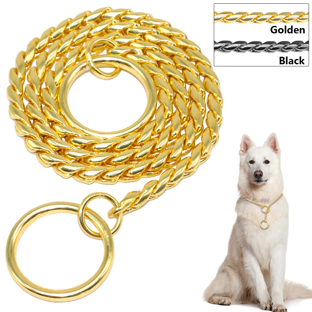 Gold Choke Collars For Dogs
