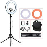 Photography Led Ring Light 55W 5500K With Light Stand Support Ball Head Phone Clip For Studio Photo Camera Video Selfie Lighting