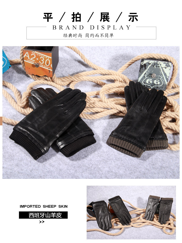 b9f93896f581f Q45 New Fashion Leather Gloves Men's Fine Goatskin with Suede Winter Warmth  Bike Leather Glove Lovers Winter Gloves Men 1 1-2 1-4 4 2 3 5 6 6-1 9-3