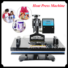 1pc 6 in 1 30*38cm T-shirt Swing Away Heat Press Machine/ Shaking Head Heat Transfer Sublimation Printing Machine