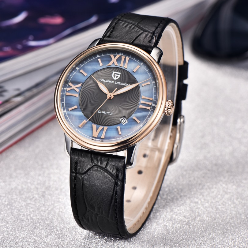 Pagani Дизайн бренд Для женщин Мода кварцевые часы Для женщин Водонепроницаемый 30 м shell Наберите роскошная женская обувь часы Relogio Feminino