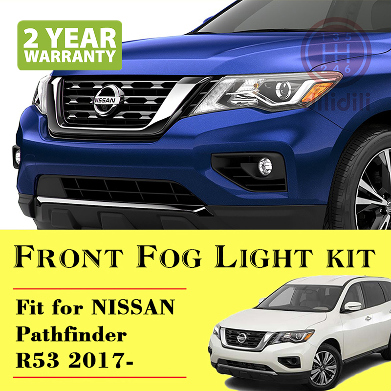 Fog Light Lamp Kit for Nissan Pathfinder 2017- R53 with auto Switch