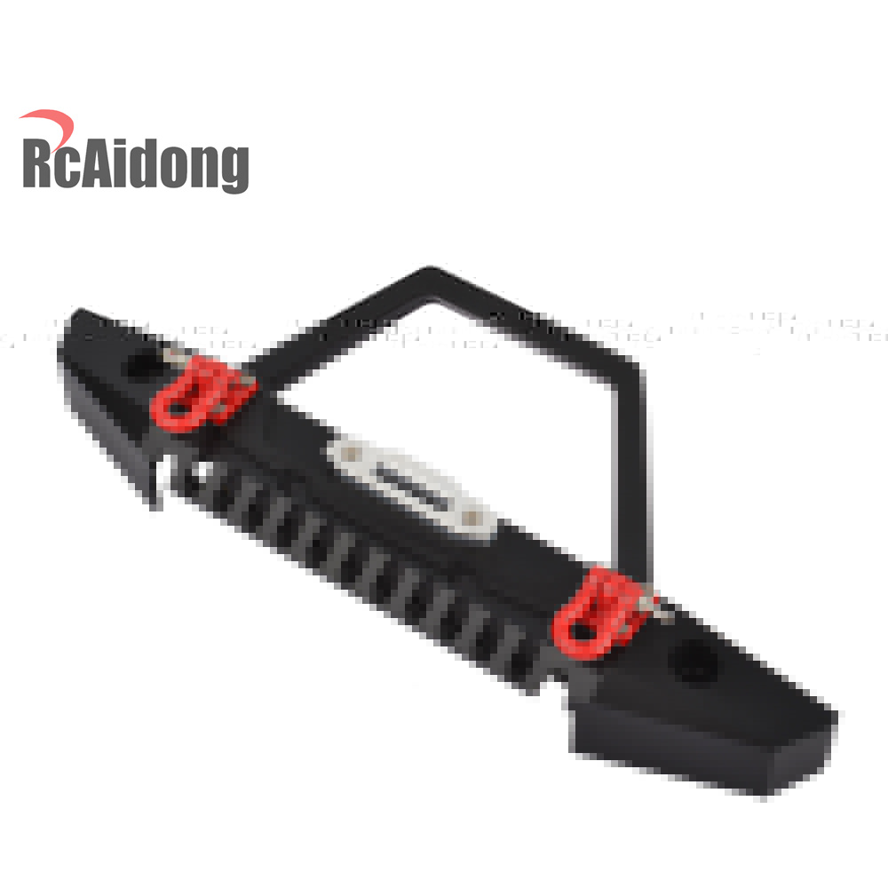 RCaidong 1/10 Front Bumper Bull Bar con LED Faros Winch Mount Seat - Juguetes con control remoto - foto 3
