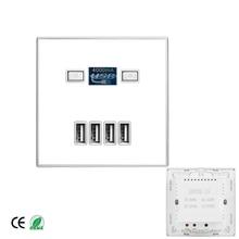 1 قطعة 4 منفذ USB شاحن سريع المنزل استخدام مقبس الحائط الطاقة Usb الكهربائية المخرج 4000mA/86 مللي متر * 86 مللي متر