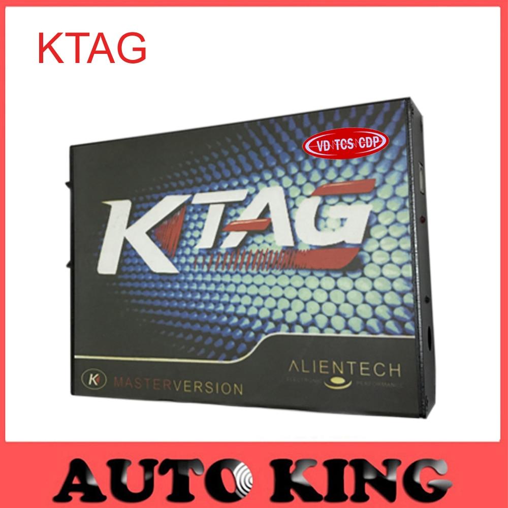 Prix pour DHL gratuit! 2017 nouvelle arrivée! K-TAG Programmation de L'ECU Outil Compatible Auto KTAG K TAG ECU Prog Outil Maître Version livraison gratuite