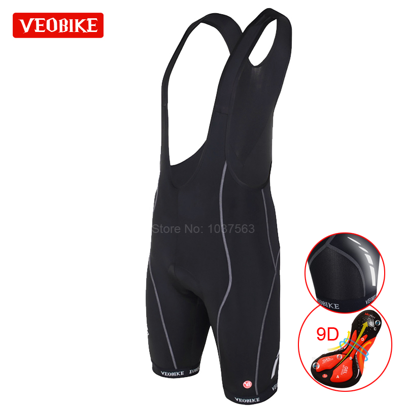 VEOBIKE Pro Team Ropa Ciclismo Mens Cycling Bib Shorts Pants Bicycle Bike Vest Shorts Clothing 9D Cushion Gel Pad Braces Tights